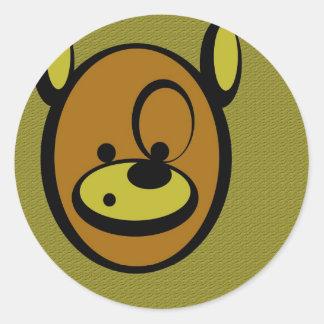 CuddlyCute - Jaz the Bear Classic Round Sticker