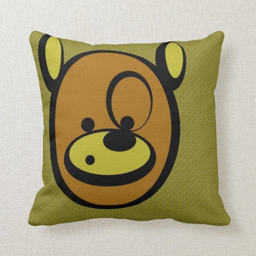 CuddlyCute - Jaz the Bear Throw Pillows