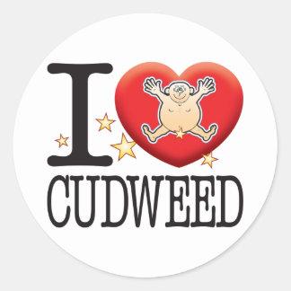 Cudweed Love Man Classic Round Sticker