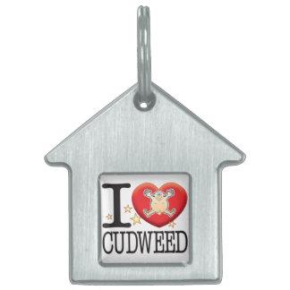 Cudweed Love Man Pet Name Tag
