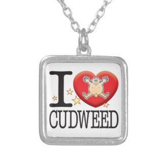 Cudweed Love Man Square Pendant Necklace