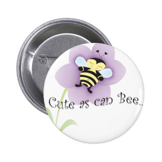 Cue as can BEE 2 Inch Round Button