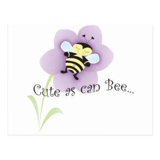 Cue as can BEE Postcard