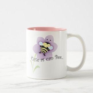 Cue as can BEE Two-Tone Coffee Mug
