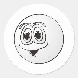 Cue Pool Ball Cartoon Classic Round Sticker