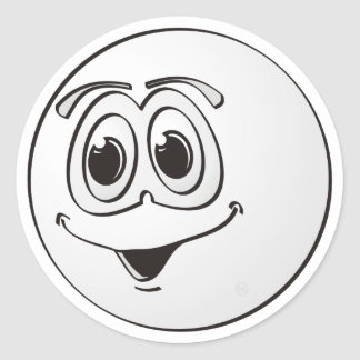 Cue Pool Ball Cartoon Sticker
