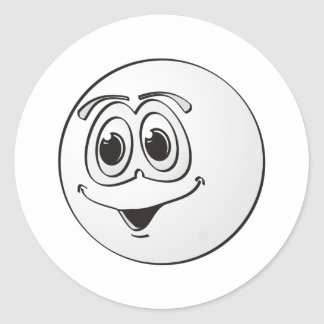 Cue Pool Ball Cartoon Round Stickers