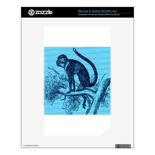 Cuelgue hacia fuera el mono NOOK color calcomanía