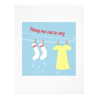 Cuelgue hacia fuera para secarse membretes personalizados