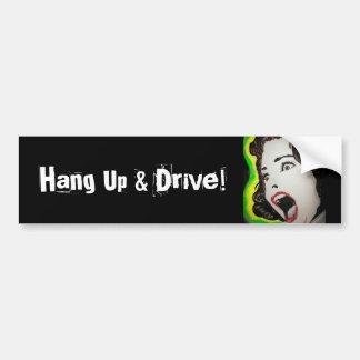 Cuelgue para arriba y conduzca a la pegatina para  etiqueta de parachoque