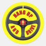Cuelgue para arriba y conduzca etiqueta