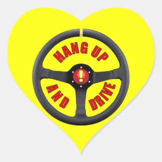 Cuelgue para arriba y conduzca pegatinas corazon personalizadas