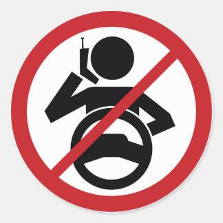 Cuelgue para arriba y conduzca etiquetas redondas