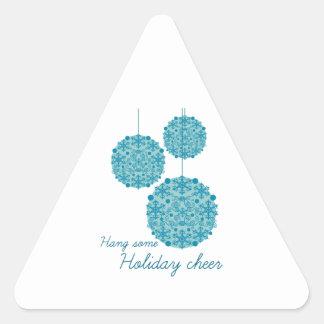 Cuelgue una cierta alegría del día de fiesta calcomanías de trianguladas