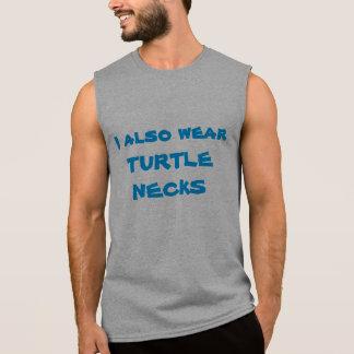 Cuello cisne y cadena camisetas sin mangas