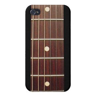 Cuello de la guitarra del palo de rosa para el iPh iPhone 4 Fundas