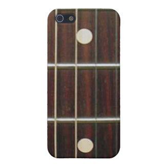 Cuello de la guitarra del palo de rosa para el iPh iPhone 5 Funda