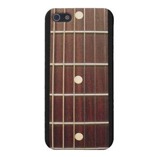 Cuello de la guitarra del palo de rosa para el iPh iPhone 5 Fundas