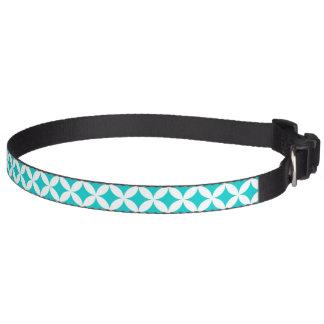 Cuello de perro abstracto blanco del modelo de los collar para perro