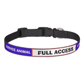 Cuello de perro animal del servicio azul blanco collares de perro