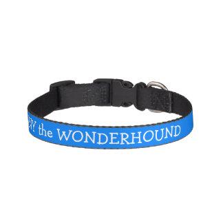 Cuello de perro azul azul personalizado collar para perro