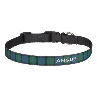 Cuello de perro de encargo de la tela escocesa collar para perro