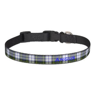 Cuello de perro de encargo de la tela escocesa de collar para perro