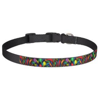 Cuello de perro de la fuente del arco iris collar para perro