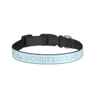 Cuello de perro de los azules cielos personalizado collar para perro