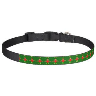 Cuello de perro del petirrojo del navidad collar para perro