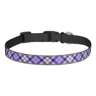 Cuello de perro del tartán del distrito de collares para perros