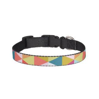 Cuello de perro modelado geométrico colorido collares para perros