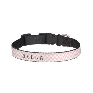 Cuello de perro rosado de encargo de Chevron Collares De Perro