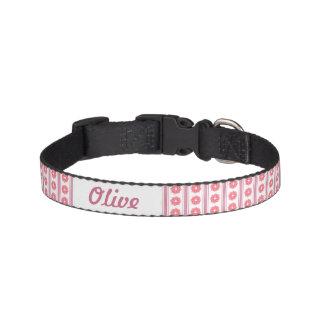 Cuello de perro rosado de la cinta collares de perro