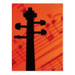Cuello del violín postal