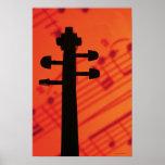 Cuello del violín poster