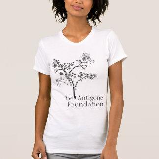 Cuello en v de la fundación del Antigone Camisetas