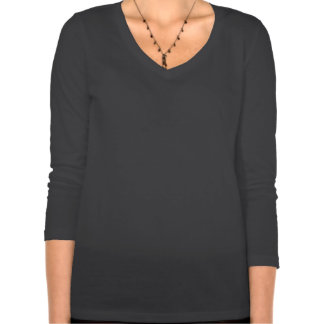 Cuello en v de la manga de STEMinist 3/4 (tamaño e T Shirts