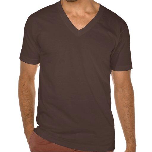 Cuello en v fino del jersey de American Apparel Camisetas