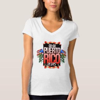 CUELLO EN V GOGO de PUERTO RICO de la mujer Polera