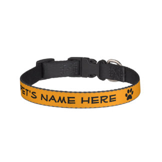 Cuello personalizado del mascota del naranja w/Bla Collares Para Perros