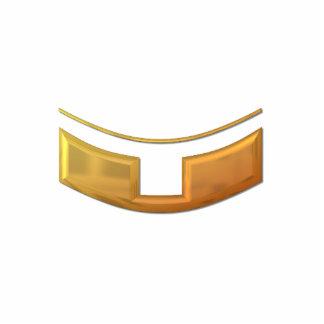 """Cuello """"tridimensional"""" de oro del sacerdote/de la fotoescultura vertical"""