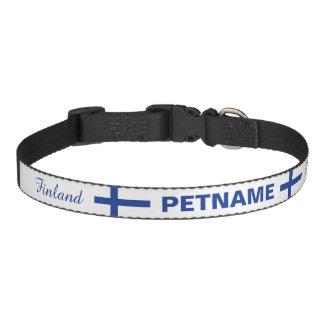 Cuellos de encargo del mascota de la bandera finla collar para perro