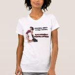 Cuellos de la rotura de los chicas del rodillo camiseta
