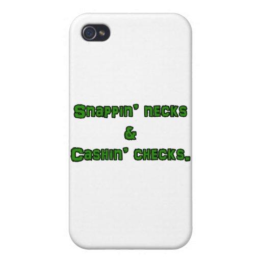 cuellos y controles snapin del cashin iPhone 4 fundas