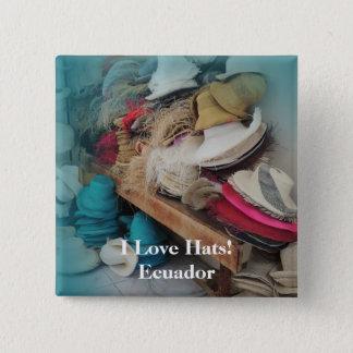 Cuenca Ecuador Hat Factory Customizable Text Button