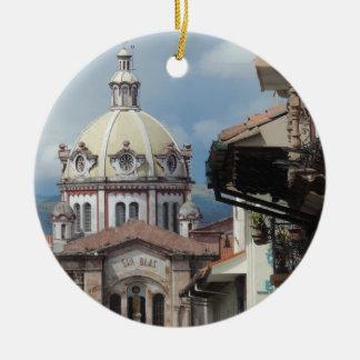 Cuenca Ecuador - Iglesia de San Blas Ceramic Ornament