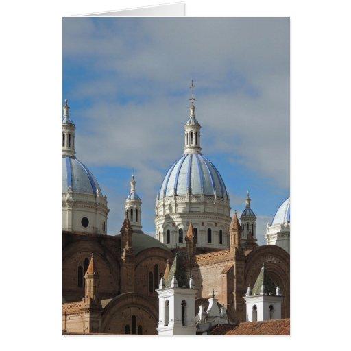 Cuenca, Ecuador - New Cathedral Greeting Card