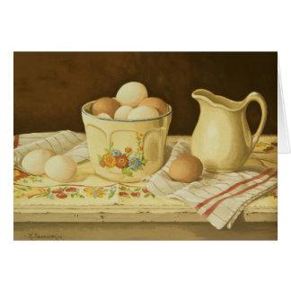 Cuenco 1175 de huevos y de tarjeta de felicitación