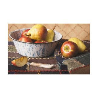Cuenco 4044 de fruta en el edredón loco impresión en lienzo estirada